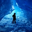 Blue cave, shattered ice