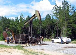 Coalbed Methane drilling rig (Louisiana)
