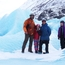 Family portrait on a glacier