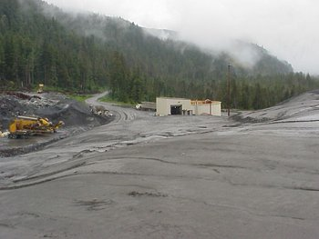 One of several mine tailings waste sites at Greens Creek