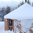 Guest yurt in the snow