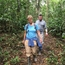 Hiking a trail in the Amazon