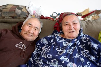 Two elders shared stories with us in their home