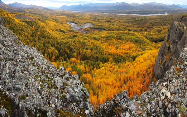 Fall colors blanket the Matanuska Valley in mid-Sept.