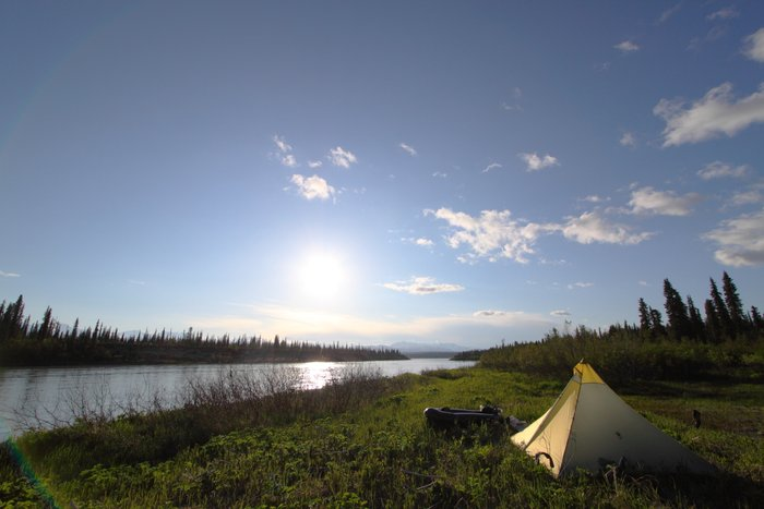 & Our tent on the Beluga River