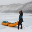 Packraft sleds in the wind
