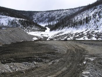 "The ""dry stack"" tailings facility at Pogo Mine, Alaska"