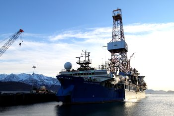 Shell Drilling Ship wintering in Seward after unsuccessful 2012 season.