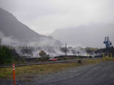 Hotspots at the Seward Coal Terminal stockpiles