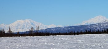 Looking North East from Shell Lake on the Iditarod Trail near the Canyon Creek Coal Lease Area.