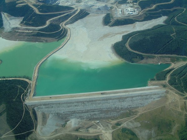 Tailings Dam at Fort Knox gold mine