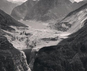 Vajont's reservoir was mostly displaced by a massive landslide, creating a wave that crested 500 feet over the dam's rim.  The dam still stands, but the event permanently removed it from service.
